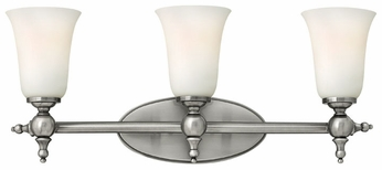 Hinkley 5743AN Yorktown Nickel Classic 3-Light Torch Style Wall Sconce Lighting