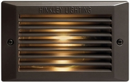 Hinkley 58015BZ-LL Line Voltage Deck LED Contemporary Dark Bronze / Light Bronze LED Exterior Light Sconce