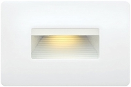 Hinkley 58508SW3K Luna Contemporary Satin White LED Outdoor Step Light