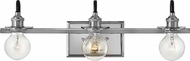 Hinkley 5873PN Baxter Modern Polished Nickel 3-Light Bathroom Light Sconce