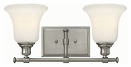 Hinkley 58782BN Colette Brushed Nickel Finish 7.75  Tall 2 Light Bathroom Lighting Sconce