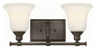 Hinkley 58782OZ Colette Oil Rubbed Bronze Finish 16.5  Wide 2 Light Bathroom Sconce Lighting