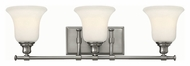 Hinkley 58783BN Colette Brushed Nickel Finish 7.75  Tall 3 Light Bath Lighting Sconce