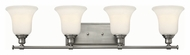 Hinkley 58784BN Colette Brushed Nickel Finish 7.75  Tall 4 Light Bathroom Lighting
