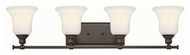 Hinkley 58784OZ Colette Oil Rubbed Bronze Finish 32.75  Wide 4 Light Lighting For Bathroom