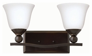Hinkley 5892OB-OPAL Bolla Olde Bronze Finish 8.75  Tall 2 Light Bath Lighting