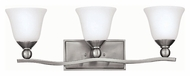 Hinkley 5893BN Bolla Brushed Nickel Finish 26  Wide 3 Light Bathroom Light