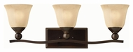 Hinkley 5893OB Bolla Olde Bronze Finish 8.75  Tall 3 Light Bathroom Lighting Fixture