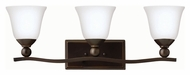 Hinkley 5893OB-OPAL Bolla Olde Bronze Finish 26  Wide 3 Light Vanity Lighting
