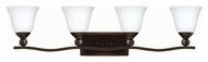 Hinkley 5894OB-OPAL Bolla Olde Bronze Finish 8.75  Tall 4 Light Vanity Light