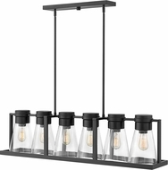 Hinkley 63306BK-CL Refinery Modern Black Kitchen Island Lighting
