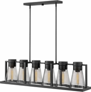 Hinkley 63306BK-SM Refinery Contemporary Black Kitchen Island Light