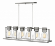 Hinkley 63306BN-CL Refinery Modern Brushed Nickel with Clear Kitchen Island Light Fixture