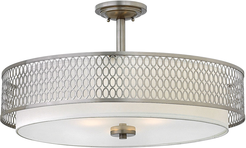 Hinkley Fr35604bni Jules Contemporary Brushed Nickel Drum Drop Ceiling Light Fixture