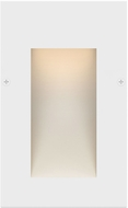 Hinkley Landscape 1562SW Taper Modern Satin White LED Exterior Step Lighting