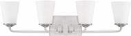 Home Place 114141BN-331 Braylon Brushed Nickel 4-Light Bathroom Lighting Fixture