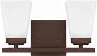 Home Place 114421BZ-334 Baxley Bronze 2-Light Bathroom Wall Sconce