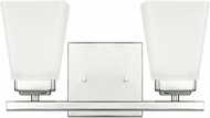 Home Place 114421PN-334 Baxley Polished Nickel 2-Light Bath Wall Sconce