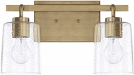 Home Place 128521AD-449 Greyson Contemporary Aged Brass 2-Light Bathroom Sconce