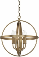 Home Place 317541AD Aged Brass 16.5  Hanging Pendant Light