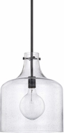 Home Place 325712MB Modern Matte Black Mini Pendant Light Fixture
