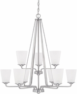 Home Place 414191BN-331 Braylon Brushed Nickel Chandelier Lamp