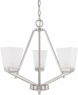 Home Place 414431BN-334 Baxley Brushed Nickel Mini Ceiling Chandelier