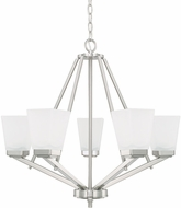 Home Place 414451BN-334 Baxley Brushed Nickel Chandelier Lighting
