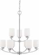 Home Place 415291BN-338 Dixon Brushed Nickel Chandelier Light