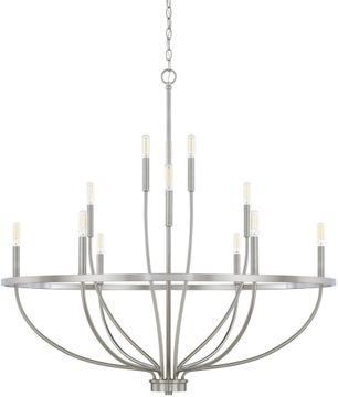 Home Place 428501BN Greyson Contemporary Brushed Nickel Chandelier Light