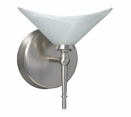 Hopi Wall Lamp with White Glass