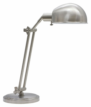 House of Troy AD450-SN Addison Transitional Satin Nickel 24 Inch Tall Adjustable Pharmacy Table Lamp