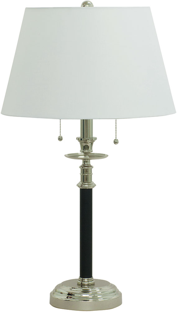 House of troy b550 bpn bennington black with polished nickel table house of troy b550 bpn bennington black with polished nickel table lamp loading zoom aloadofball Images