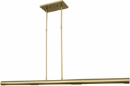 House of Troy BLP42-SB Beeline Satin Brass LED 42  Kitchen Island Lighting