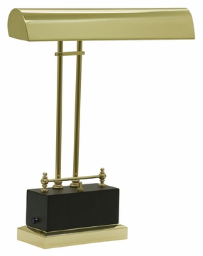 House of Troy BPLED200-617 14 Inch Wide Transitional Black & Brass LED Piano/Desk Lamp