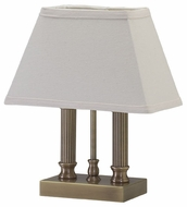 House of Troy CH876AB Coach One Light Accent Table Lamp in Antique Brass