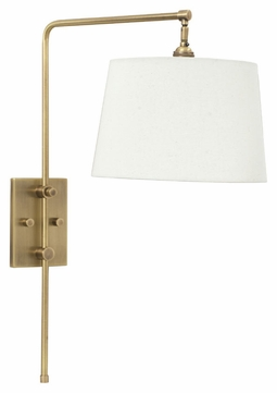 House of Troy CR725-AB Crown Point Antique Brass Finish 18 Tall Wall Swing Arm Lamp