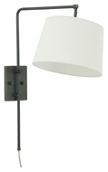 House of Troy CR725-OB Crown Point Oil Rubbed Bronze Finish 20  Wide Wall Swing Arm Lamp