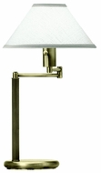 House of Troy D43671 D436 Swing Arm Table Lamp in Antique Brass