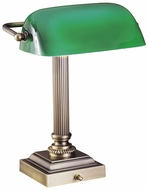 House of Troy DSK428G71 Bankers Desk Lamp in Antique Brass