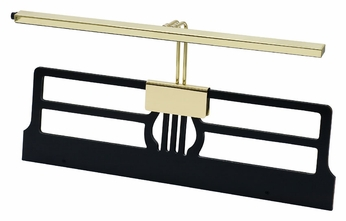 House of Troy GPLED26-61 Grand Piano Polished Brass Transitional 26 Inch Wide LED Piano Light