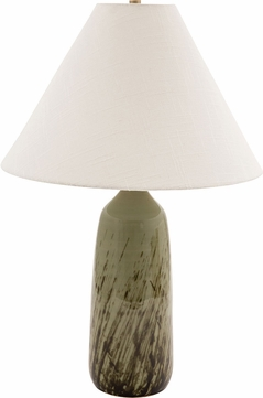 House of Troy GS100-DCG Scatchard Decorated Celadon Table Lamp
