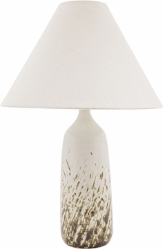 House of Troy GS100-DWG Scatchard Decorated White Gloss Table Light