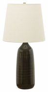 House of Troy GS101-BR Scatchard 31 Inch Tall Brown Gloss 31 Inch Tall Stoneware Table Lamp