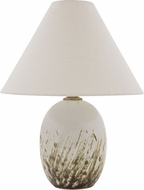 House of Troy GS140-DWG Scatchard Decorated White Gloss Table Top Lamp
