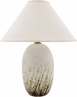 House of Troy GS150-DWG Scatchard Decorated White Gloss Table Lamp