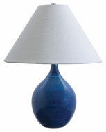 House of Troy GS200-BG Scatchard Blue Gloss Finish 19 Inch Tall Transitional Table Light
