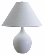 House of Troy GS200-WM Scatchard White Matte Finish 19 Inch Tall Transitional Table Top Lamp