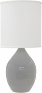 House of Troy GS201-GG Scatchard Gray Gloss Lighting Table Lamp