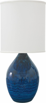 House of Troy GS201-MID Scatchard Midnight Blue Table Lamp Lighting
